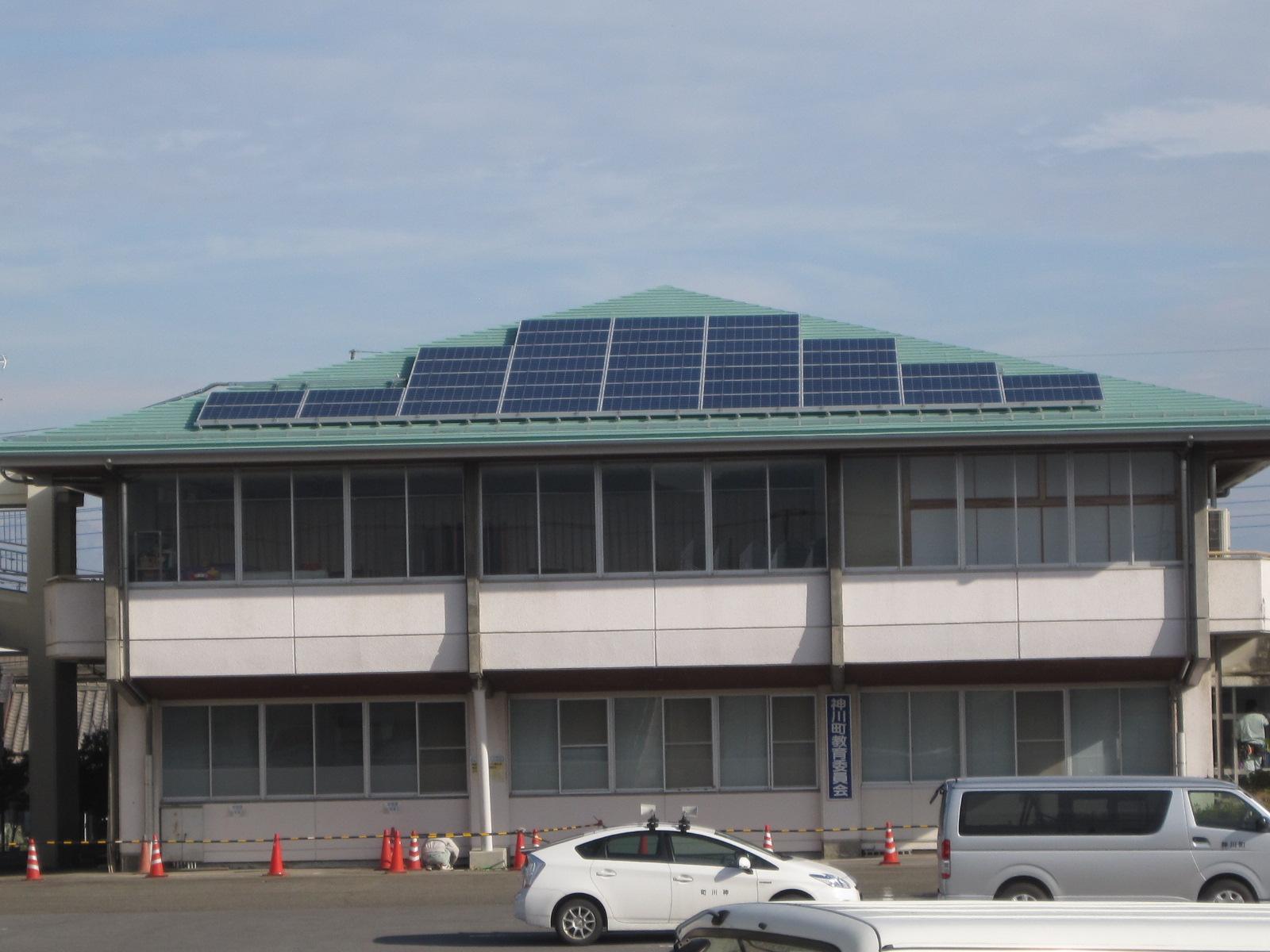 神川町就業改善センター耐震補強及び太陽光設備設置工事