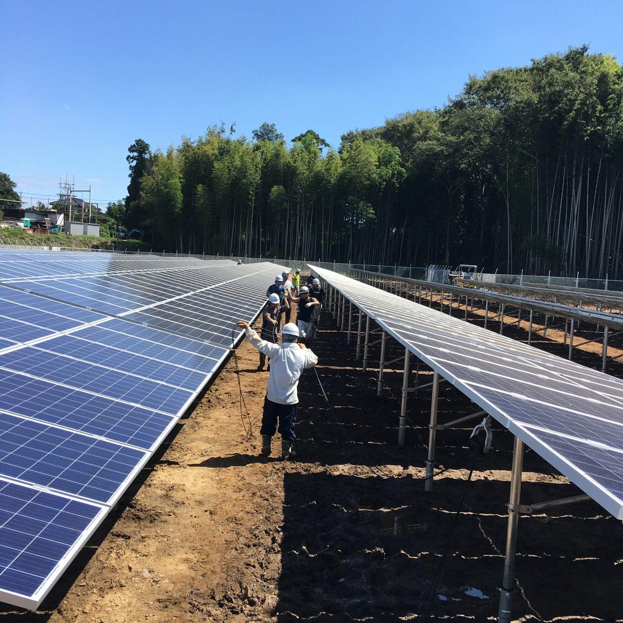 野田市第一メガソーラー発電所設置工事